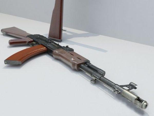 Weaponry Gun Kalashnikov AK 47 3d Model 001