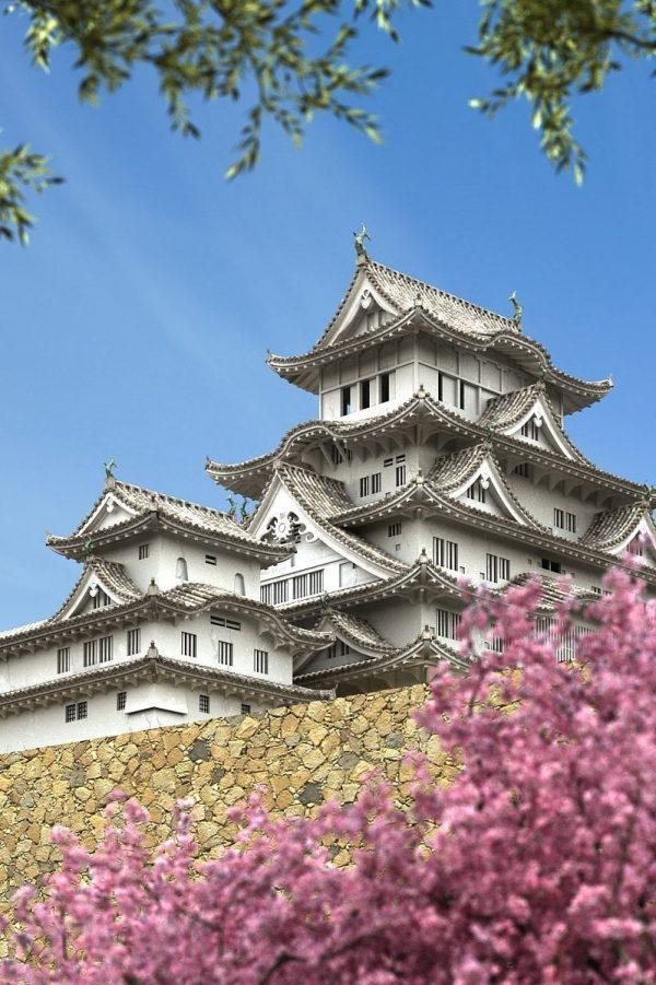 Japanese Style Castle Exterior Scene 001