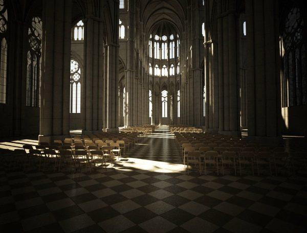 Religious Building Interior Scene 001