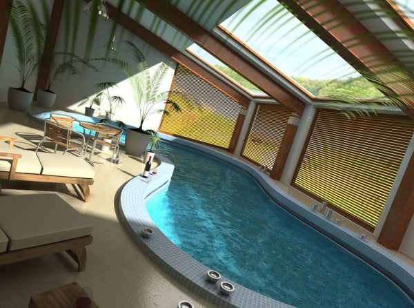 Swimming Pool Interior Scene 001