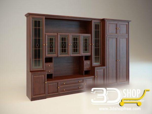 004-3d Models-Classic-Wardrobe & Display Cabinets