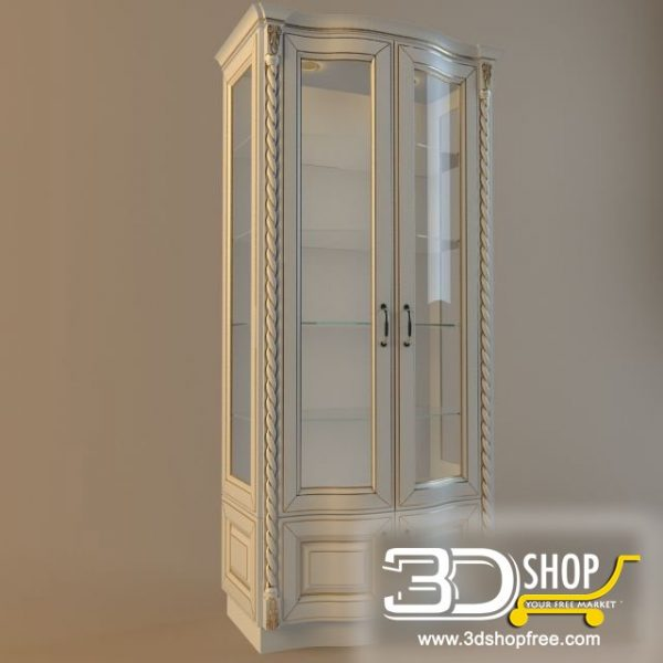005-3d Models-Classic-Wardrobe & Display Cabinets