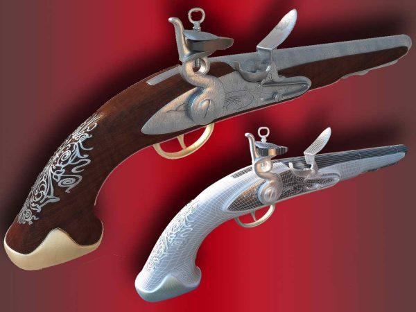 006-3d Models-Weaponry-Pistol