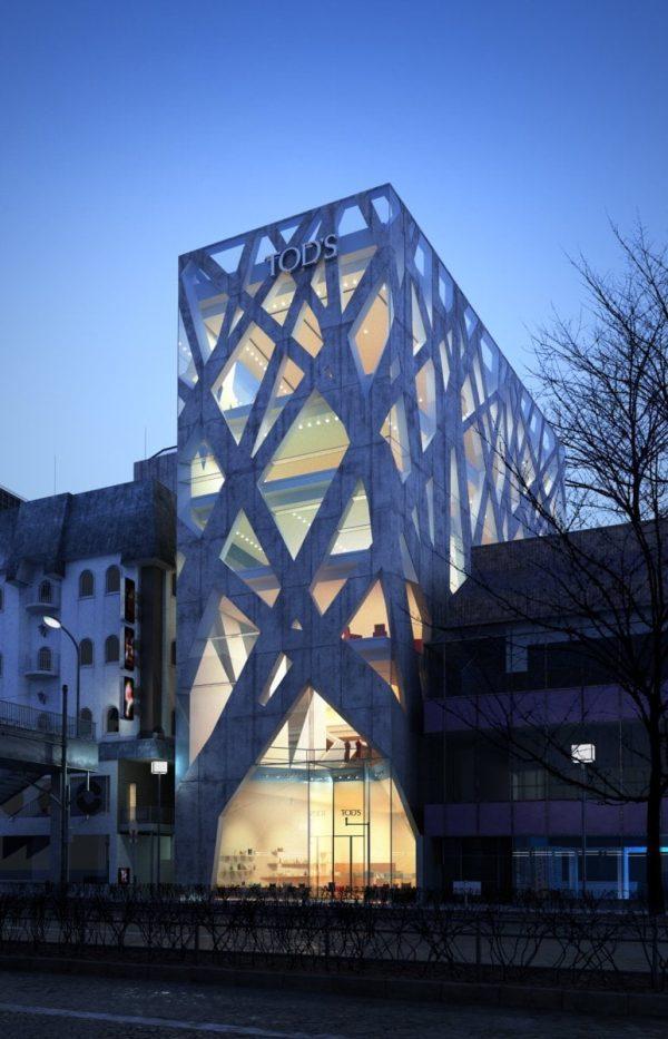 006-Exterior Scenes-Public Buildings-Tods Building-Tokyo