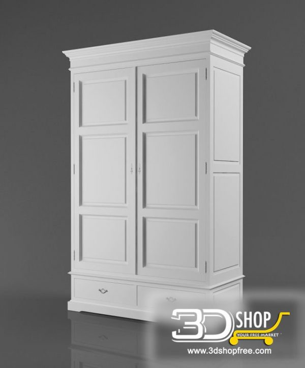 007-3d Models-Classic-Wardrobe & Display Cabinets