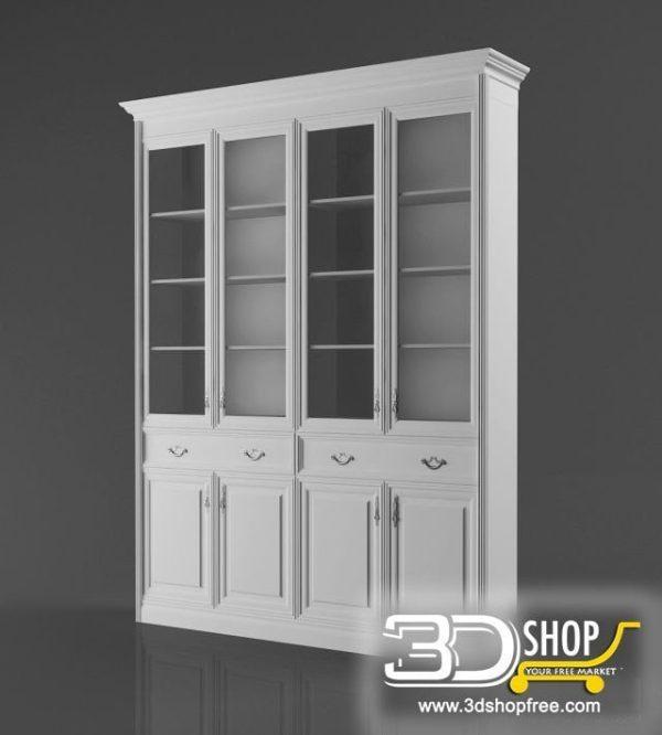 008-3d Models-Classic-Wardrobe & Display Cabinets