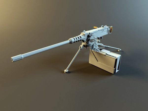 008-3d Models-Weaponry-Browning M2 Machine Gun