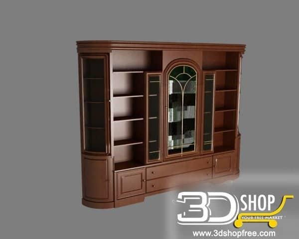 009-3d Models-Classic-Wardrobe & Display Cabinets