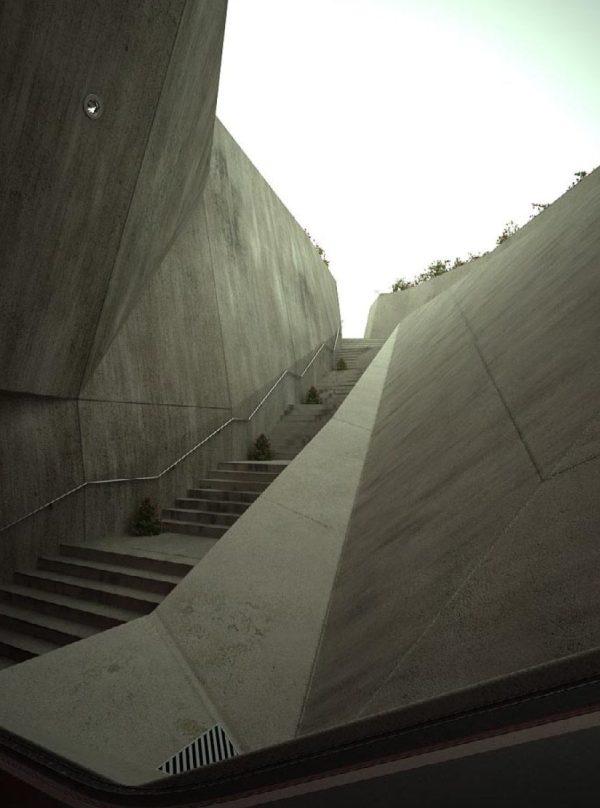 Stair Interior Scene 009