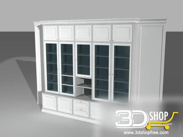010-3d Models-Classic-Wardrobe & Display Cabinets
