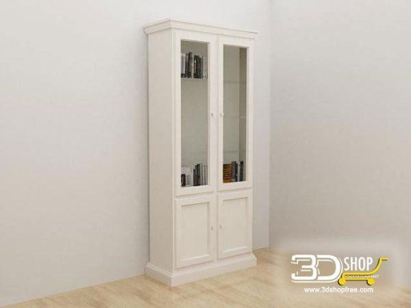 012-3d Models-Classic-Wardrobe & Display Cabinets