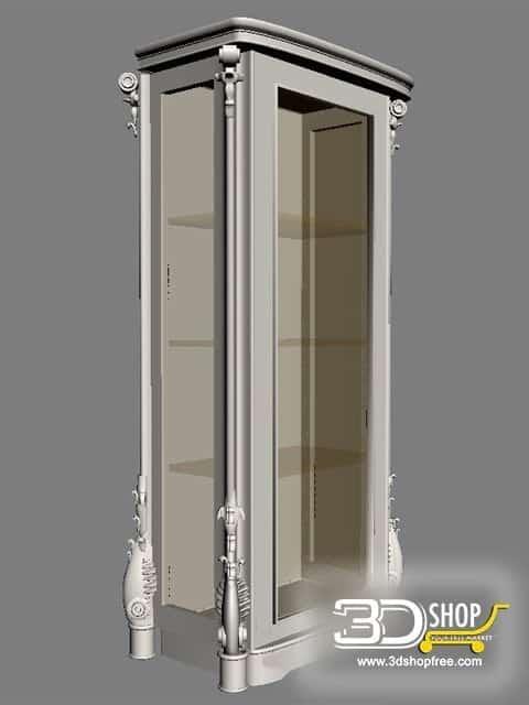 013-3d Models-Classic-Wardrobe & Display Cabinets