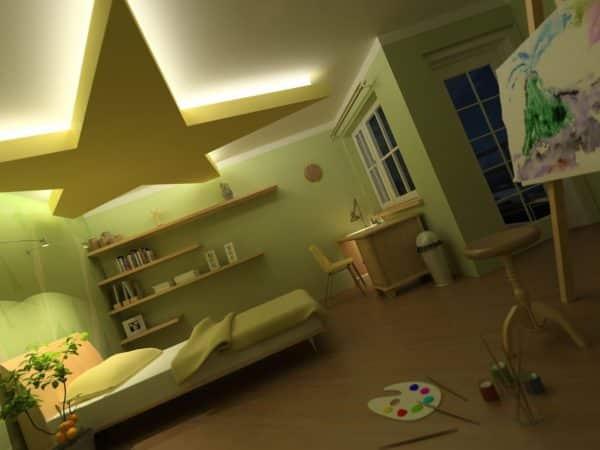 Kids Bedroom 3d Max Interior Scene 013