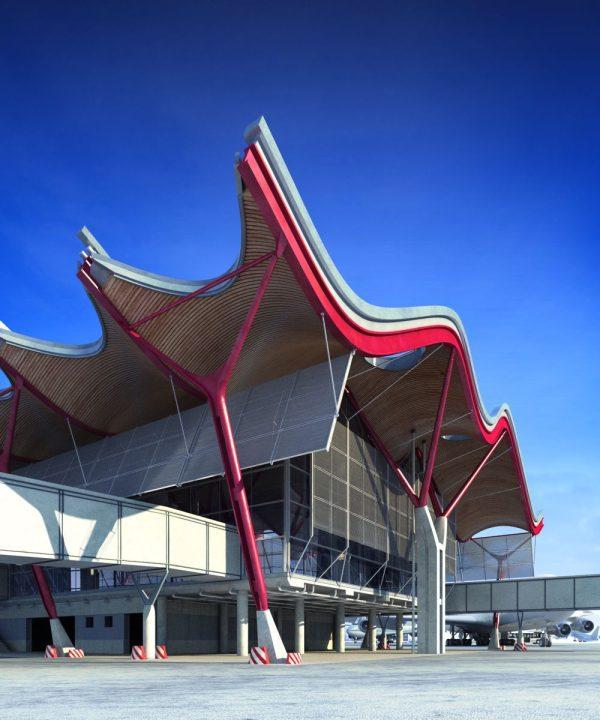 014-Exterior Scenes-Public Buildings-Madrid-Barajas Airport