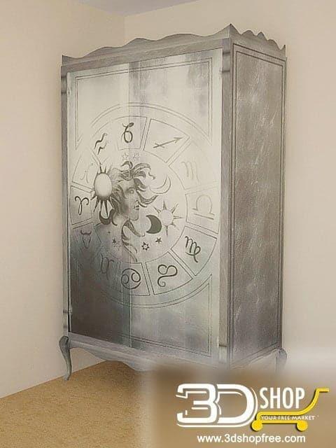 015-3d Models-Classic-Wardrobe & Display Cabinets