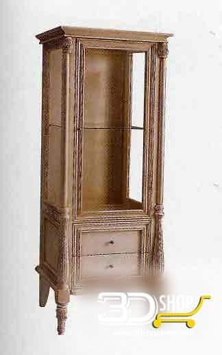 017-3d Models-Classic-Wardrobe & Display Cabinets