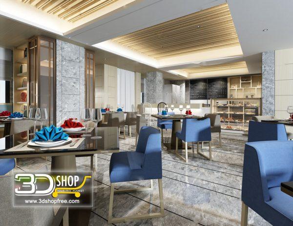 018-Interior Scenes-Cafes & Restaurants-Modern style