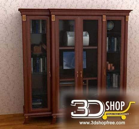 020-3d Models-Classic-Wardrobe & Display Cabinets