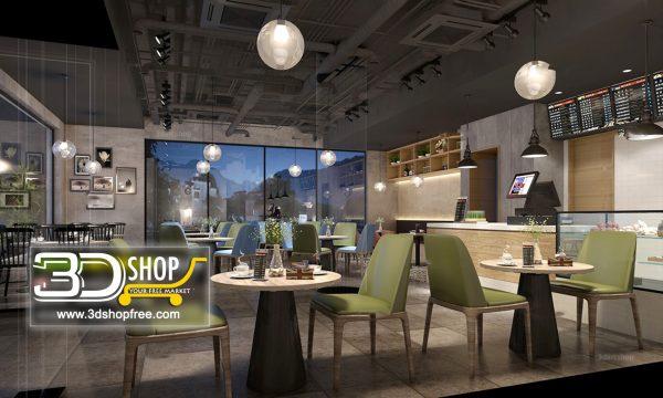 Interior Scenes Cafes & Restaurants Modern style 020