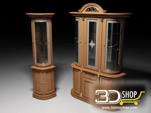 023-3d Models-Classic-Wardrobe & Display Cabinets