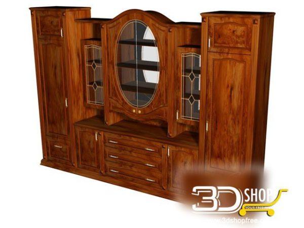 027-3d Models-Classic-Wardrobe & Display Cabinets