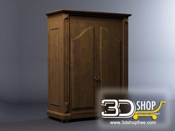 029-3d Models-Classic-Wardrobe & Display Cabinets