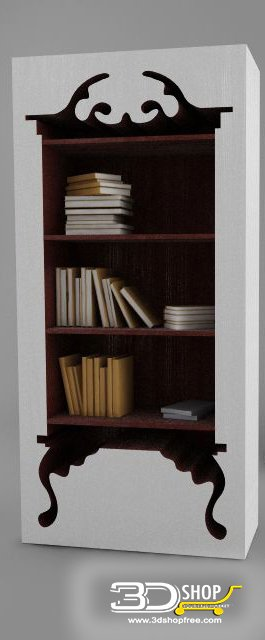 034-3d Models-Classic-Wardrobe & Display Cabinets