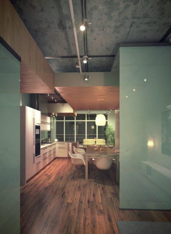 Kitchen & Dinning Room Interior Scene 034