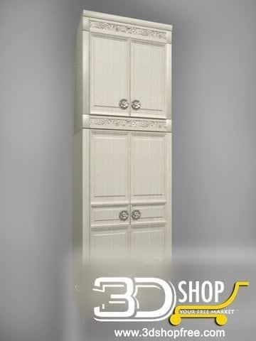 035-3d Models-Classic-Wardrobe & Display Cabinets