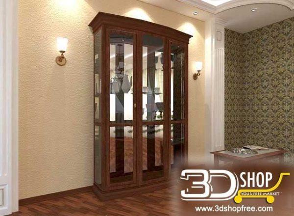 036-3d Models-Classic-Wardrobe & Display Cabinets
