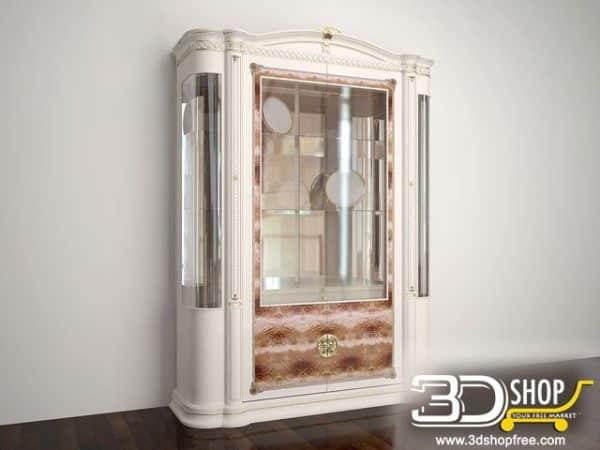 037-3d Models-Classic-Wardrobe & Display Cabinets