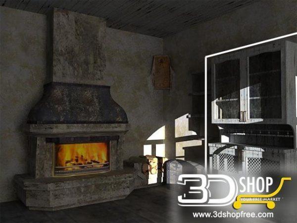 038-3d Models-Classic-Wardrobe & Display Cabinets