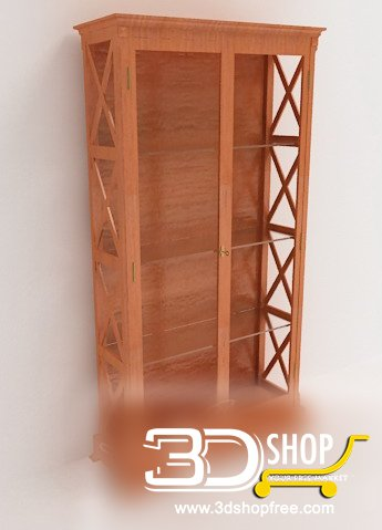 039-3d Models-Classic-Wardrobe & Display Cabinets
