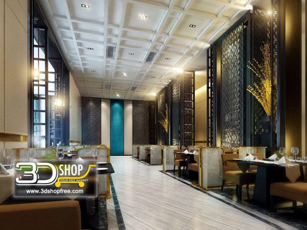 Cafe & Restaurant  Interior Scene 048