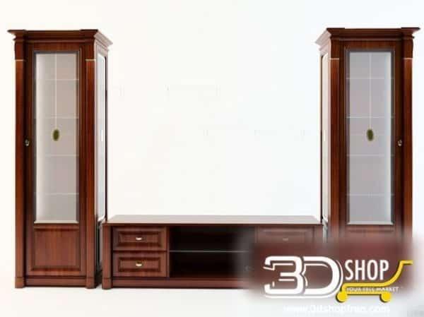 054-3d Models-Classic-Wardrobe  & Display Cabinets