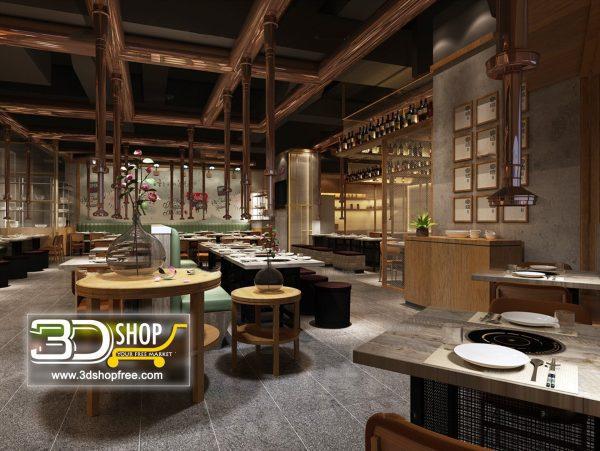 062-Interior Scenes-Cafes & Restaurants-Industrial style
