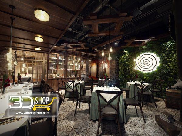 064-Interior Scenes-Cafes & Restaurants-Industrial style