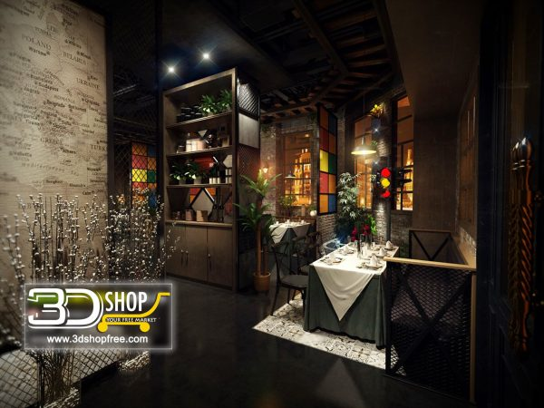 066-Interior Scenes-Cafes & Restaurants-Industrial style