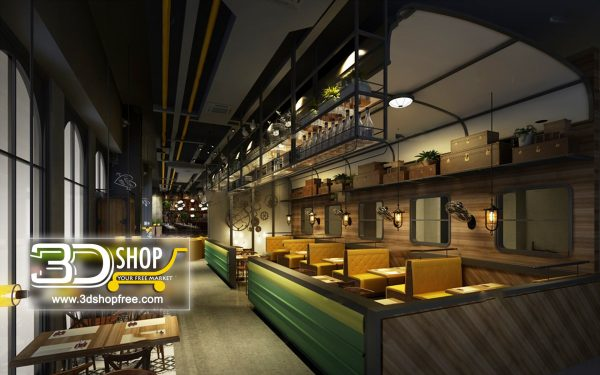 078-Interior Scenes-Cafes & Restaurants-Industrial style