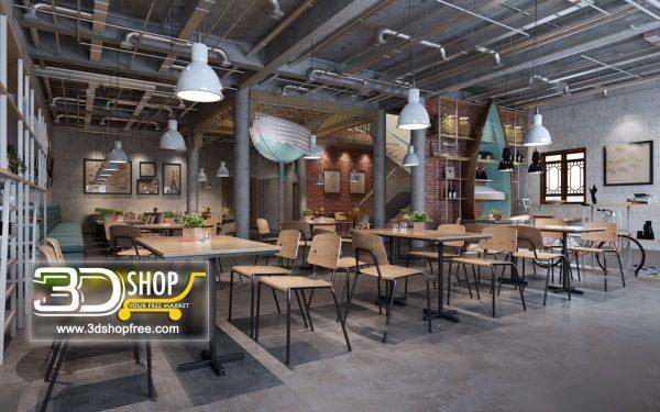 083-Interior Scenes-Cafes & Restaurants-Industrial style