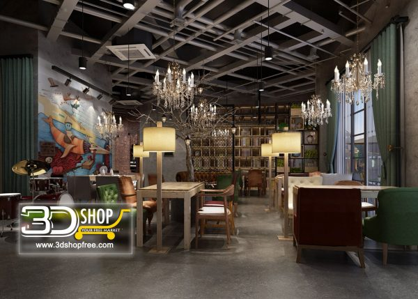 085-Interior Scenes-Cafes & Restaurants-Industrial style