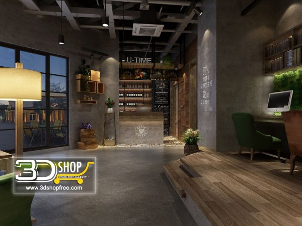 086-Interior Scenes-Cafes & Restaurants-Industrial style