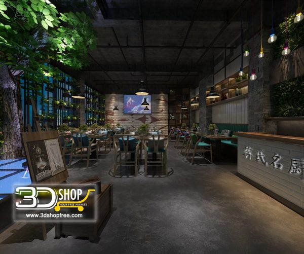 087-Interior Scenes-Cafes & Restaurants-Industrial style