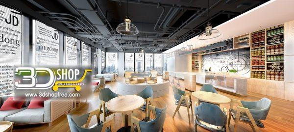 092-Interior Scenes-Cafes & Restaurants-Industrial style