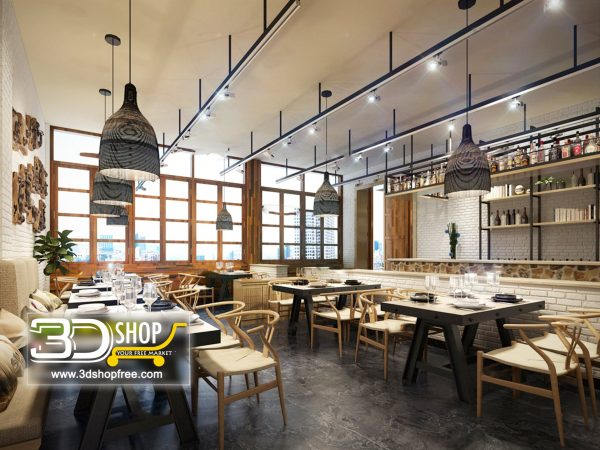 096-Interior Scenes-Cafes & Restaurants-Industrial style