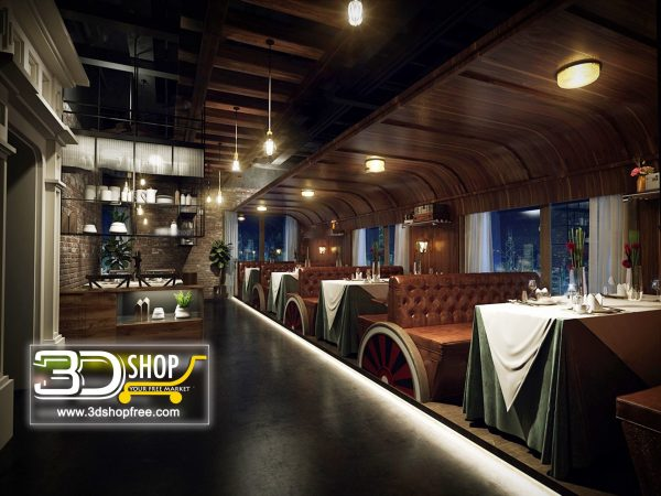 100-Interior Scenes-Cafes & Restaurants-Industrial style