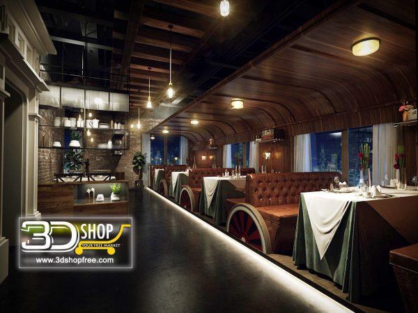 100-Interior Scenes-Cafes & Restaurants-Industrial style