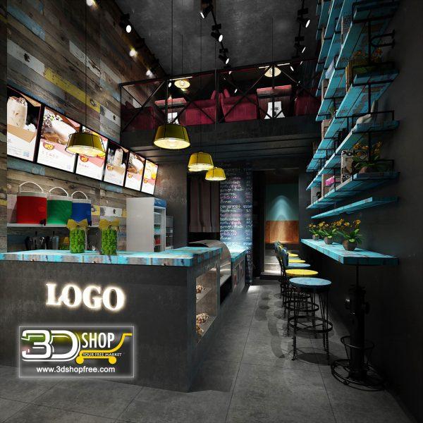 Interior Scenes Cafes & Restaurants Industrial style 103