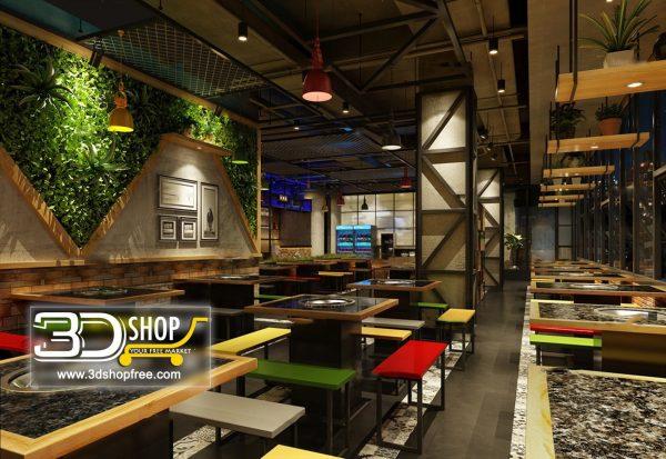 104-Interior Scenes-Cafes & Restaurants-Industrial style