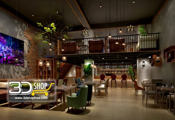 107-Interior Scenes-Cafes & Restaurants-Industrial style